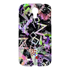 Chaos With Letters Black Multicolored Samsung Galaxy S4 I9500/i9505 Hardshell Case by EDDArt