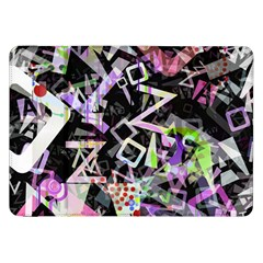 Chaos With Letters Black Multicolored Samsung Galaxy Tab 8 9  P7300 Flip Case by EDDArt