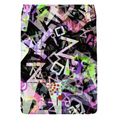 Chaos With Letters Black Multicolored Flap Covers (s)  by EDDArt