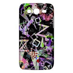 Chaos With Letters Black Multicolored Samsung Galaxy Mega 5 8 I9152 Hardshell Case  by EDDArt