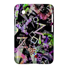 Chaos With Letters Black Multicolored Samsung Galaxy Tab 2 (7 ) P3100 Hardshell Case  by EDDArt