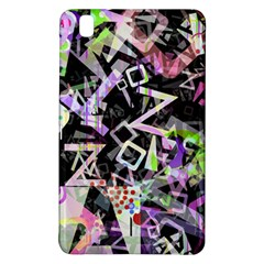 Chaos With Letters Black Multicolored Samsung Galaxy Tab Pro 8 4 Hardshell Case by EDDArt