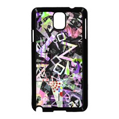 Chaos With Letters Black Multicolored Samsung Galaxy Note 3 Neo Hardshell Case (black) by EDDArt