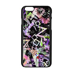 Chaos With Letters Black Multicolored Apple Iphone 6/6s Black Enamel Case by EDDArt