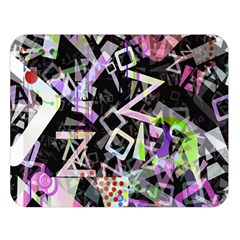 Chaos With Letters Black Multicolored Double Sided Flano Blanket (large)  by EDDArt