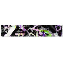Chaos With Letters Black Multicolored Flano Scarf (large) by EDDArt
