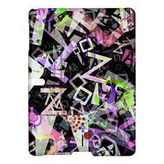 Chaos With Letters Black Multicolored Samsung Galaxy Tab S (10 5 ) Hardshell Case  by EDDArt
