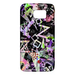 Chaos With Letters Black Multicolored Galaxy S6 by EDDArt