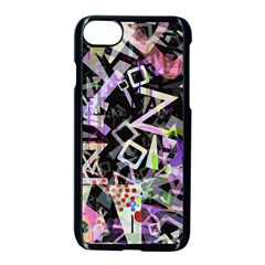 Chaos With Letters Black Multicolored Apple Iphone 7 Seamless Case (black) by EDDArt