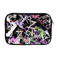 Chaos With Letters Black Multicolored Apple Macbook Pro 17  Zipper Case by EDDArt
