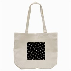 Footprints Cat White Black Tote Bag (cream) by EDDArt