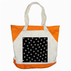 Footprints Cat White Black Accent Tote Bag by EDDArt