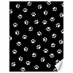 Footprints Cat White Black Canvas 18  X 24   by EDDArt
