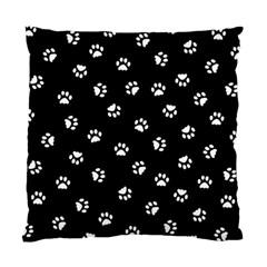 Footprints Cat White Black Standard Cushion Case (two Sides) by EDDArt