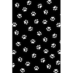 Footprints Cat White Black 5 5  X 8 5  Notebooks by EDDArt