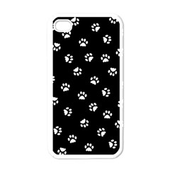 Footprints Cat White Black Apple Iphone 4 Case (white) by EDDArt