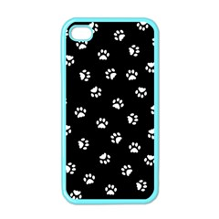 Footprints Cat White Black Apple Iphone 4 Case (color) by EDDArt