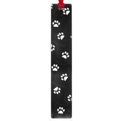 Footprints Cat White Black Large Book Marks by EDDArt