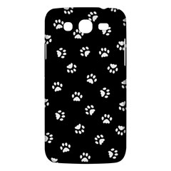 Footprints Cat White Black Samsung Galaxy Mega 5 8 I9152 Hardshell Case  by EDDArt
