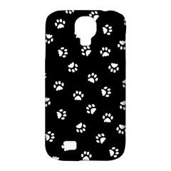 Footprints Cat White Black Samsung Galaxy S4 Classic Hardshell Case (pc+silicone) by EDDArt