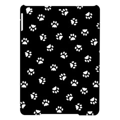 Footprints Cat White Black Ipad Air Hardshell Cases by EDDArt
