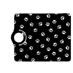 Footprints Cat White Black Kindle Fire Hdx 8 9  Flip 360 Case by EDDArt