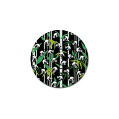 Satisfied And Happy Panda Babies On Bamboo Golf Ball Marker (4 Pack) by EDDArt