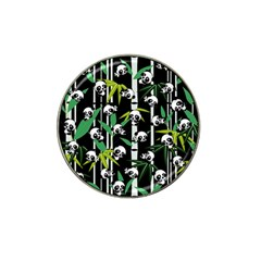 Satisfied And Happy Panda Babies On Bamboo Hat Clip Ball Marker by EDDArt