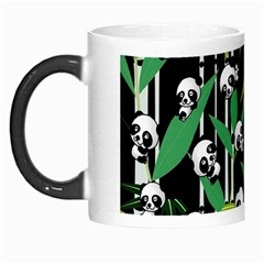 Satisfied And Happy Panda Babies On Bamboo Morph Mugs by EDDArt