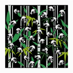Satisfied And Happy Panda Babies On Bamboo Medium Glasses Cloth by EDDArt