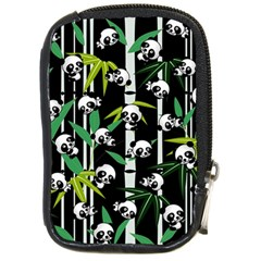 Satisfied And Happy Panda Babies On Bamboo Compact Camera Cases by EDDArt