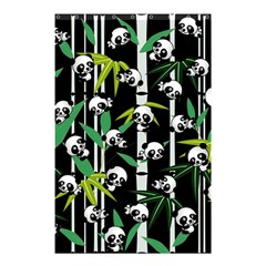 Satisfied And Happy Panda Babies On Bamboo Shower Curtain 48  X 72  (small)  by EDDArt