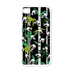 Satisfied And Happy Panda Babies On Bamboo Apple Iphone 4 Case (white) by EDDArt