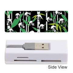 Satisfied And Happy Panda Babies On Bamboo Memory Card Reader (stick)  by EDDArt