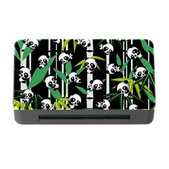 Satisfied And Happy Panda Babies On Bamboo Memory Card Reader With Cf by EDDArt