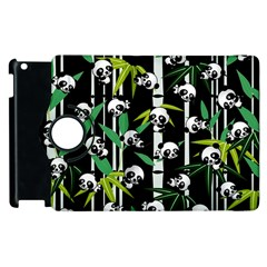 Satisfied And Happy Panda Babies On Bamboo Apple Ipad 3/4 Flip 360 Case by EDDArt