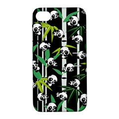 Satisfied And Happy Panda Babies On Bamboo Apple Iphone 4/4s Hardshell Case With Stand by EDDArt