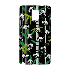 Satisfied And Happy Panda Babies On Bamboo Samsung Galaxy Note 4 Hardshell Case by EDDArt