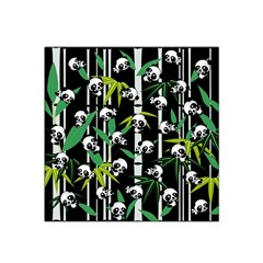 Satisfied And Happy Panda Babies On Bamboo Satin Bandana Scarf by EDDArt