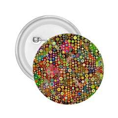 Multicolored Retro Spots Polka Dots Pattern 2 25  Buttons by EDDArt