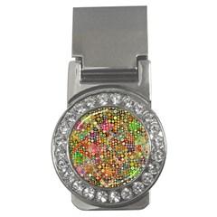 Multicolored Retro Spots Polka Dots Pattern Money Clips (cz)  by EDDArt