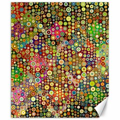 Multicolored Retro Spots Polka Dots Pattern Canvas 20  X 24   by EDDArt