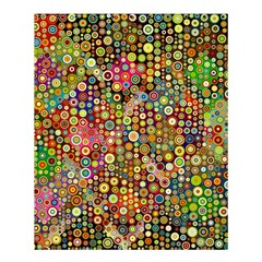 Multicolored Retro Spots Polka Dots Pattern Shower Curtain 60  X 72  (medium)  by EDDArt