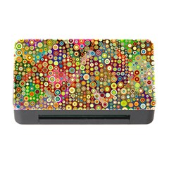 Multicolored Retro Spots Polka Dots Pattern Memory Card Reader With Cf by EDDArt