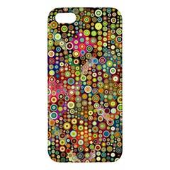 Multicolored Retro Spots Polka Dots Pattern Apple Iphone 5 Premium Hardshell Case by EDDArt