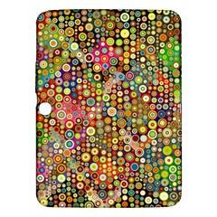 Multicolored Retro Spots Polka Dots Pattern Samsung Galaxy Tab 3 (10 1 ) P5200 Hardshell Case  by EDDArt