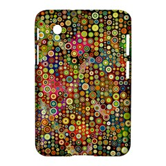 Multicolored Retro Spots Polka Dots Pattern Samsung Galaxy Tab 2 (7 ) P3100 Hardshell Case  by EDDArt