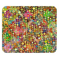 Multicolored Retro Spots Polka Dots Pattern Double Sided Flano Blanket (small)  by EDDArt