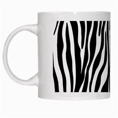 Zebra Stripes Pattern Traditional Colors Black White White Mugs by EDDArt