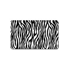 Zebra Stripes Pattern Traditional Colors Black White Magnet (name Card) by EDDArt